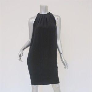 Celine Dress Black Silk Sleeveless Pleated